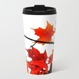 Sugar Maple Leaves in Autumn Metal Travel Mug