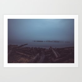 Where the Water Ends-2 Art Print