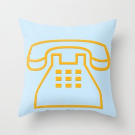 telephone symbol illustration Throw Pillow