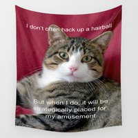 meme Wall Tapestries featuring TJ Meme by Frankie Cat