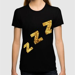 Zzzs in Gold T-shirt