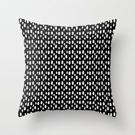 Black pattern with white spots Throw Pillow