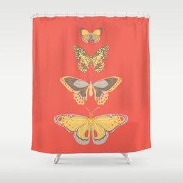 Flutterby Garden Shower Curtain