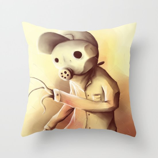 some kind of monster Throw Pillow