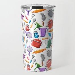 Cooking Pattern Travel Mug