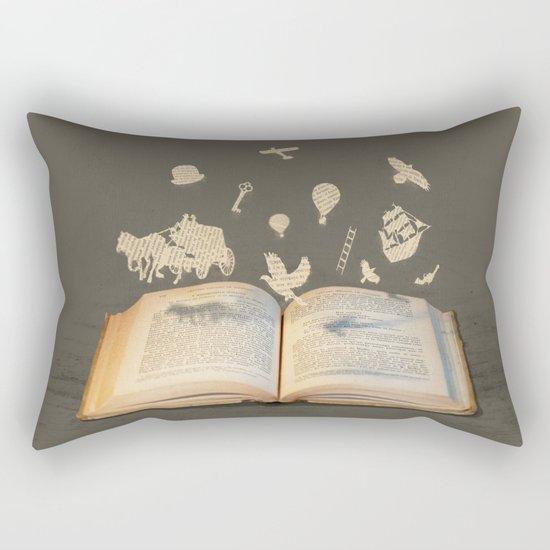 Words Take Flight (on Grey) Rectangular Pillow