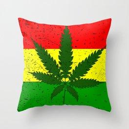 Rastafarian Flag Throw Pillow