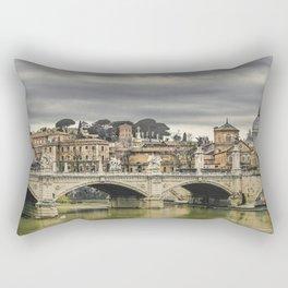Tiber River Rome Cityscape Photo Rectangular Pillow