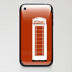Red telephone box kiosk - england iPhone & iPod Skin