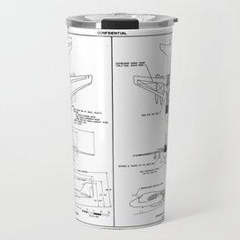 Grumman A2F-1 / A-6 Intruder Schematic Travel Mug