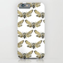 Summer Cicada – Black & Gold Palette iPhone Case