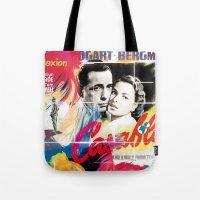 casablanca Tote Bags featuring Casablanca by Paky Gagliano