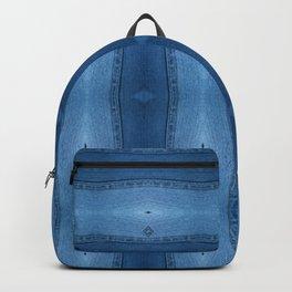 Denim Diamond Waves vertical patten Backpack