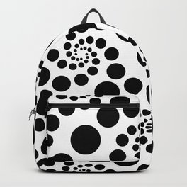 Optical Illusion Dot Spirals Backpack