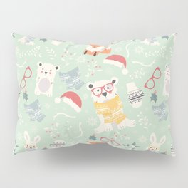 Christmas polar animals pattern 002 Pillow Sham