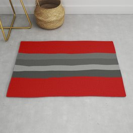 Abstract Grey Lines Rug