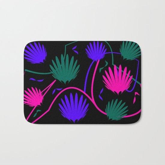 Neon Colorful Palm Bath Mat