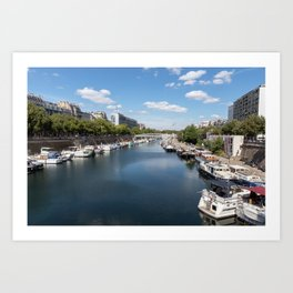 Canal Saint Martin - Paris Art Print