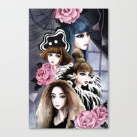 2ne1 Canvas Prints featuring 2NE1 by Yuki Chen