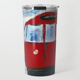 London Underground Acrylic On Canvas Board Fine Art Travel Mug