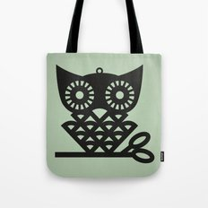 Green Hoot Tote Bag