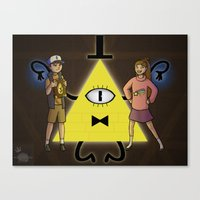 gravity falls Canvas Prints featuring Gravity Falls by Dee Draws