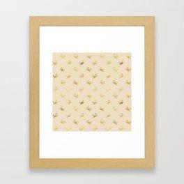 Little Golden Crab Pattern Framed Art Print