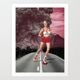 Run!Skate! Art Print