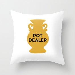 Funny Pot Ceramics Pottery Dealer Throw Pillow
