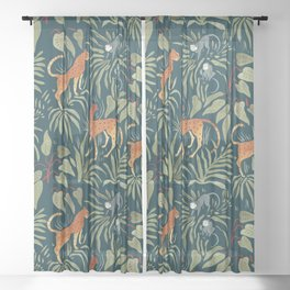 Monkey Business Sheer Curtain