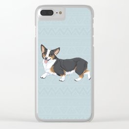 Tri-color Corgi Clear iPhone Case