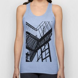 Escape in Black & White Unisex Tank Top