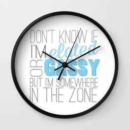 frozen... elated or gassy.. for the first time in forever Wall Clock