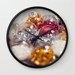 Glitter Christmas Ornaments (Color) Wall Clock