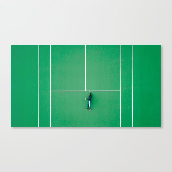 Tennis court green Canvas Print