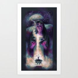 Priestess of Shadow Art Print