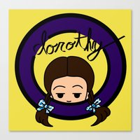 dorothy Canvas Prints featuring Dorothy by Nightmare Productions