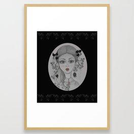 Big eyed Julie Framed Art Print