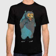 Mr.Grizzly SMALL Black Mens Fitted Tee