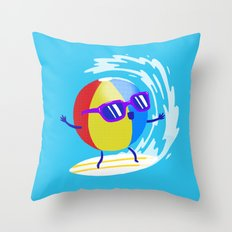 Lets Surf The Ocean Together! Throw Pillow