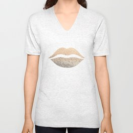 GOLD LIPS Unisex V-Neck