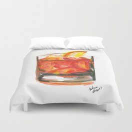 Negroni Cocktail Hour Duvet Cover