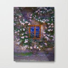 Window of Roses Metal Print