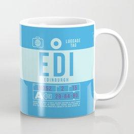 Baggage Tag B - EDI Edinburgh Scotland Coffee Mug