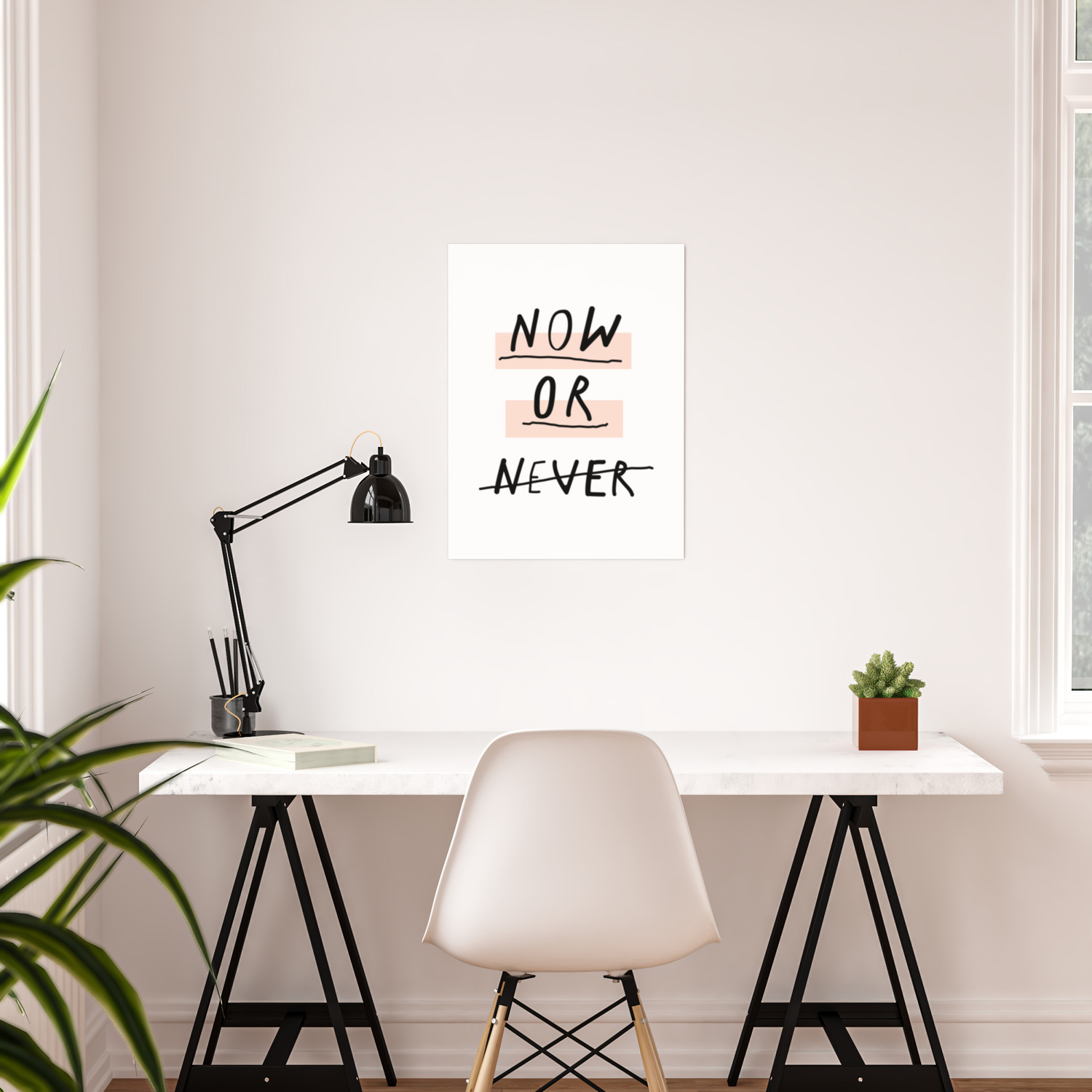 Now Or Never Typography Poster Modern Minimalist Design Home Wall Art Bedroom Decor Poster By Themotivatedtype