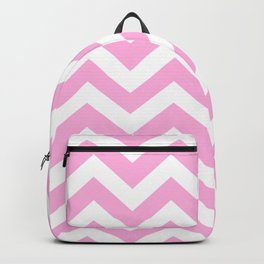 Light hot pink - pink color - Zigzag Chevron Pattern Backpack