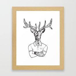 bambi's a grown up now  Black Framed Art Print