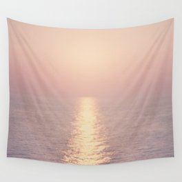 cashmere rose sunset Wall Tapestry