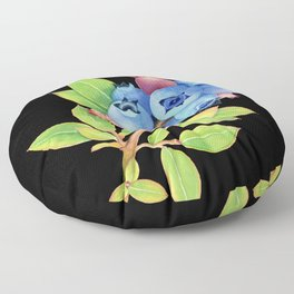 Wild Maine Blueberries Floor Pillow