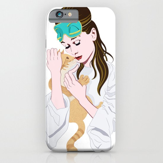 Holly Golightly's cat / Audrey Hepburn iPhone & iPod Case